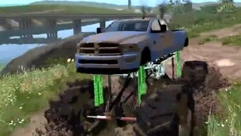 模拟驾驶:模拟驾驶超高底盘越野,场景太逼真了,底盘高就是霸气!