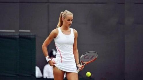 为什么网球比赛时,女运动员要在裙边塞一颗球?看完恍然大悟