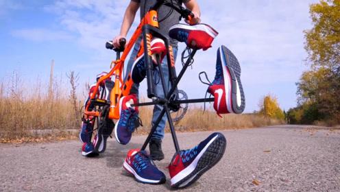 用球鞋做的自行车轮?靠谱吗?