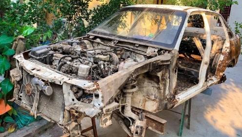 1993年产的汽车已报废,看牛人如何翻新,这是个大工程(第二集)