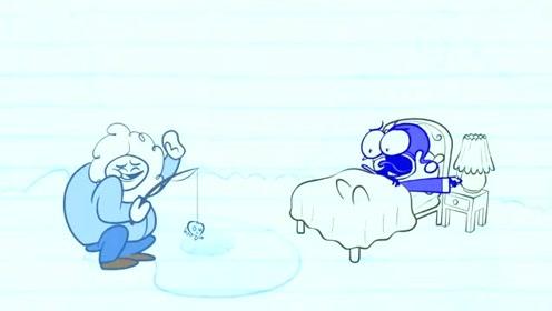 创意搞笑简笔动画,铅笔人一晚连做了十一个噩梦