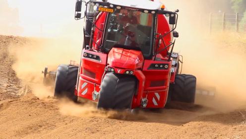 5个轮子的农业机械见过吗?前面一个轮子,转弯更灵活了