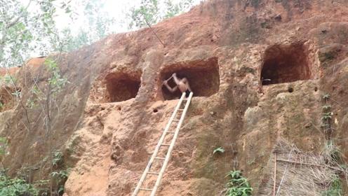 """老外在悬崖边建房,掏空悬崖建""""泳池豪宅"""",成品看着就很享受"""