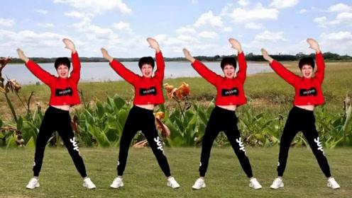笑春风健身广场舞《野花香》动感激情示范,跳出了感觉