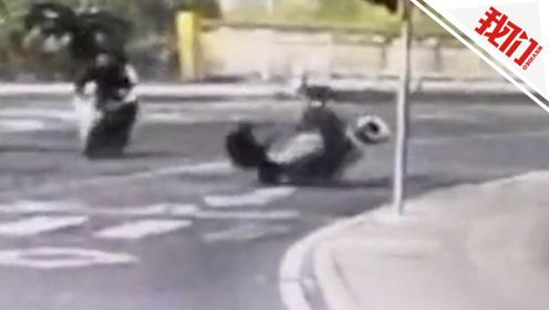 男子骑车载女儿考试途中撞上老人 怕要担责逃逸