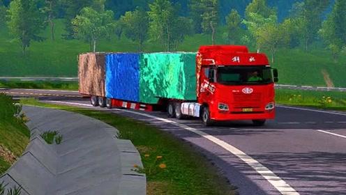 模拟驾驶大货车上公路,场景太真实,货车司机不容易!