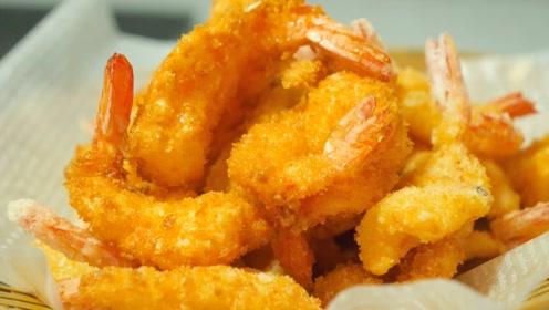 炸虾的做法,色泽金黄,酥脆好吃,做法非常简单,爱吃虾的都试试