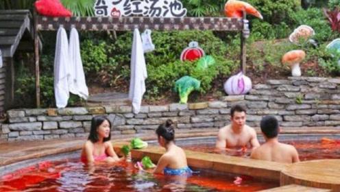 """中国最""""独特""""的温泉,满池子的辣椒,游客:只有重庆人敢泡"""
