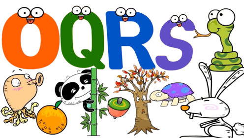快乐儿童英语26个英语字母学习英语单词英语口语练习OPQRST