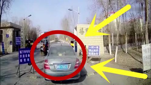 一条减速带女司机过不去了,真是让人无语了,路人拍下全过程!