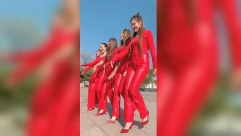 这个舞蹈节奏好轻快,小姐姐们笑的都好甜啊