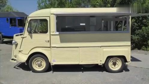 老外把雪铁龙改成餐饮车,有这门好手艺,哪用得着卖小吃赚钱?