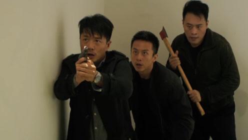超激烈枪战戏,上司与手下围追罪犯,不料子弹 突然破窗而入