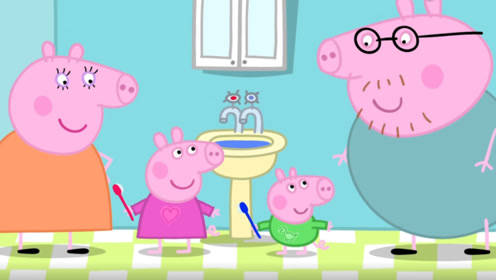秋天来了 小猪佩奇准备做一些冰糖雪梨跟乔治一起吃 玩具故事