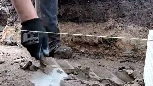 工地实拍:法国人是这样砌大块水泥砖的,技术严谨,值得学习