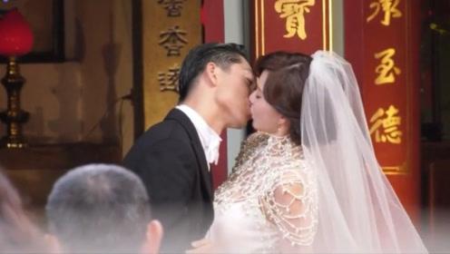 林志玲婚礼现场直击,交换戒指后甜蜜拥吻,难舍难分