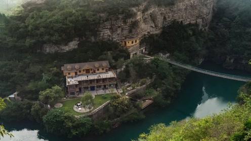 """太行山上又一个""""郭亮村"""",四周全是悬崖峭壁,被称为穽底村"""