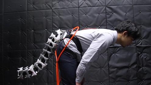 日本发明可穿戴尾巴,随着身体自由操控,网友:可以用于VR设备