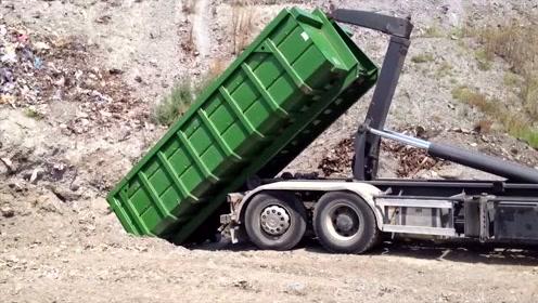 好先进的大货车装车方式,谁知道这是什么牌子的?