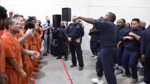 监狱变成蹦迪现场!美说唱歌手侃爷监狱演出 200多名囚犯欢呼摇摆