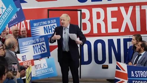 保守党竞选巴士亮相 英首相:脱欧协议已就绪 放微波炉里热一下就行了