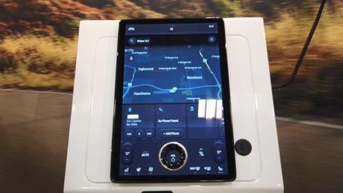 第一时间体验福特纯电动SUV的15.5寸大屏