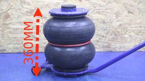 太赞了!大叔用气囊自制一台气动千斤顶,使用效果不比买的差