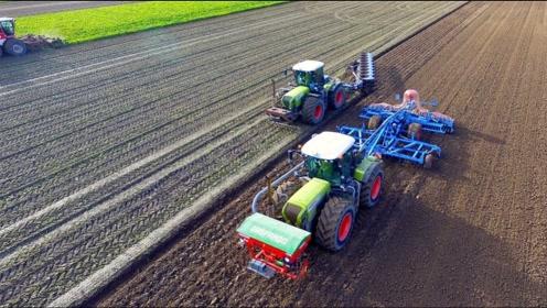美国新型犁地机,犁地松土一次成型,一天犁地105亩!