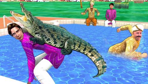 恶霸要养鳄鱼,征税关想出妙招,让村民背上玩具鳄鱼做幌子!