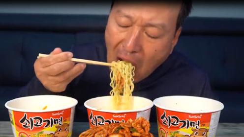 韩国农村一家人:爸爸独自在家只能吃泡面+泡菜,网友:心疼你三秒!
