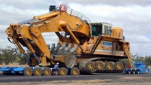 315吨的重型挖掘机,一铲子装满5吨货车,司机年薪要7位数
