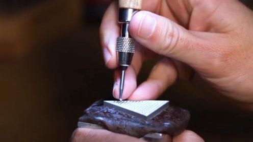 小伙纯手工制作奢饰品,过程精细,看完后明白为何奢侈品这么贵了