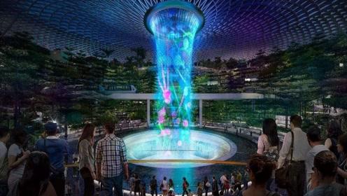 耗资13亿,新加坡打造出全世界最高的室内瀑布,伸手一碰让人意外