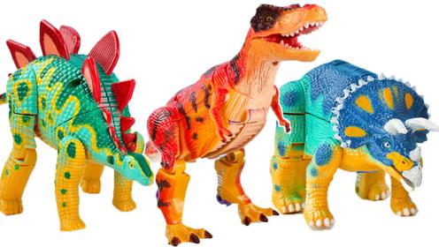 炫酷恐龙蛋变形金刚机器人玩具