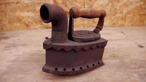 老师傅给旧烙铁除锈,一招轻松去除铁锈,和新买的一样!