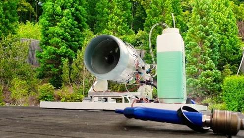 5000匹飞机发动机有多烧油?老外用迷你引擎测试,结果一目了然
