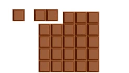 一块巧克力这样切,偷摸吃掉一小块,神不知鬼不觉!