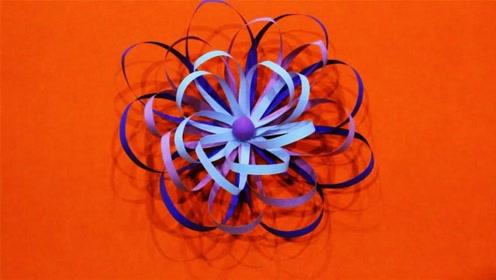 儿童手工制作大全 花朵折纸制作 纸条制作花朵