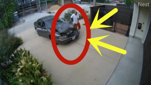 男子开车撞人后逃逸,将车开到隐蔽地方,接下一幕震惊我的世界观!