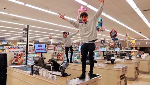 熊孩子挑战在超市躲藏24小时,他能成功吗?结果让人惊呆了!