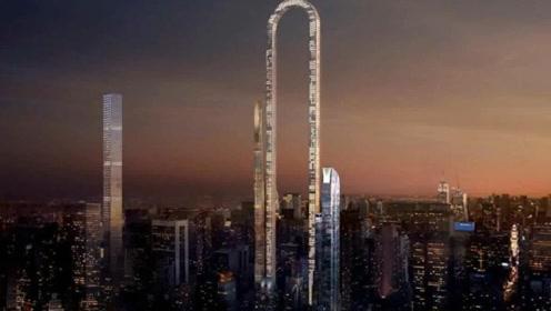 外国花巨资打造出U型大楼,长度达到1000多米,电梯还会自己转弯