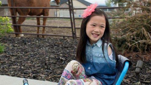 """中国""""无臂女孩"""",被父母狠心抛弃,美国养父母却将她宠成了公主"""