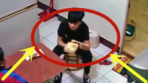 夫妻俩正在吃饭,3秒后男子被陌生女子紧紧抱着,调看监控腿都吓软了!