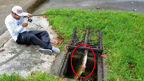 家门口下水道发出奇怪声响,男子凑近一看,捞上一个大家伙!