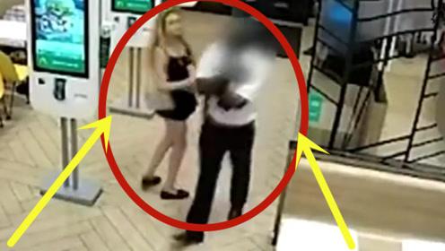 性感美女趁人不备,做出如此可耻的事,监控拍下气愤一幕!