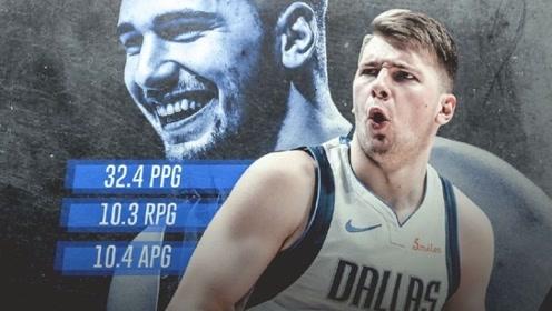 NBA历史上第三人! 东契奇月战14场单月场均砍下30+三双