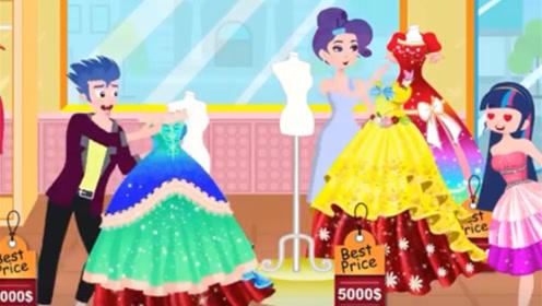 女孩看上了一条裙子,富豪男友大方展现男友力,店员都惊呆了