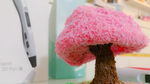 """国外牛人用3D打印笔,DIY浪漫""""樱花树"""",成品出来惊艳众人!"""
