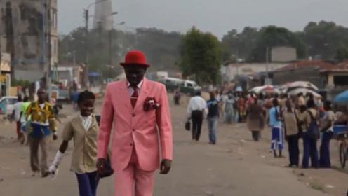 非洲贫民窟中最时尚的男子,不吃不喝也要穿名牌,每天出门特别自信!