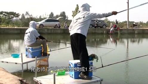在黑坑作钓时,用长竿的目的主要为了钓远,近处的鱼会受到惊吓